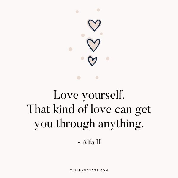 We are often times our worst critic. Self-love is an important part of maintaining our mental health and overall well-being. Here are 34 inspiring quotes to remind us that we are uniquely perfect and worthy of our own love. #selflove #selfacceptance #selfworth #selfesteem #quotes #quotestoliveby