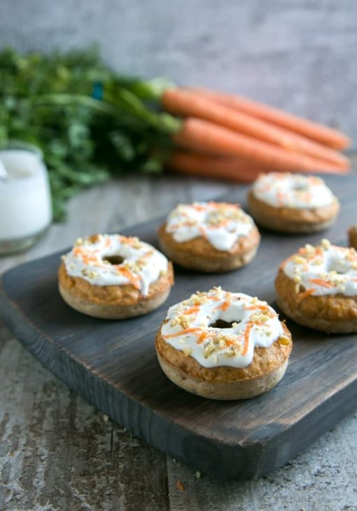 Carrot Cake Baked Donuts - thepetitecook.com | 20+ Guilt-Free Dessert Recipes | Tulip and Sage