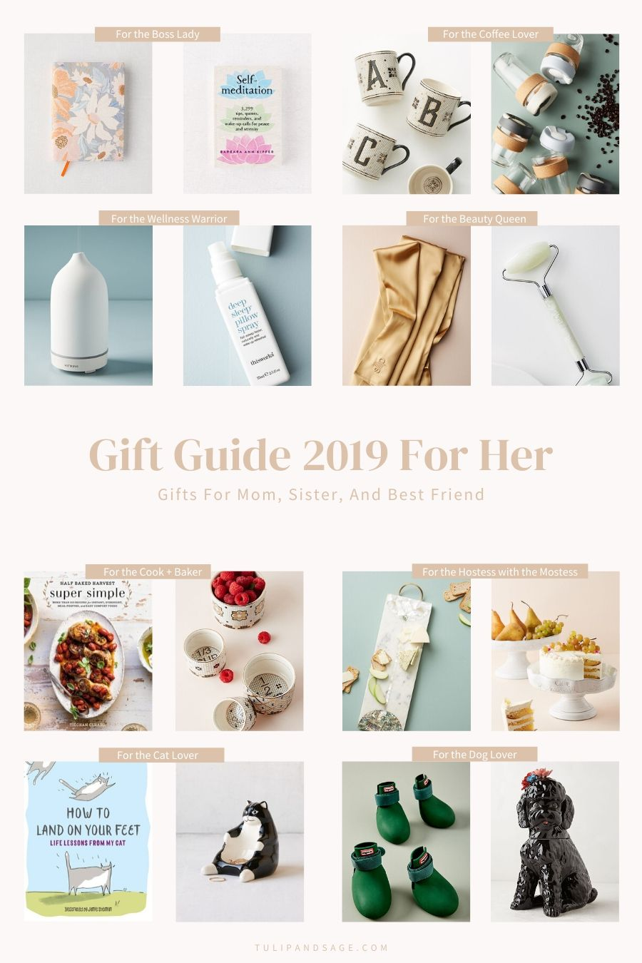 Stressing about what to get your mom, sister, or best friend this holiday season? This can help! Check out our Gift Guide 2019 For Her! #giftguide #giftguide2019 #giftideas #giftideasforher #holidaygiftguide