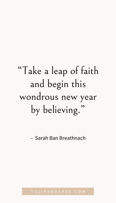 Happy New Year! Wishing you new beginnings and a year ahead filled with joy and peace of mind!  Here are 50 New Year quotes to inspire a fresh start.  #happynewyearquotes #happynewyear #newyearquotes #quotestoliveby