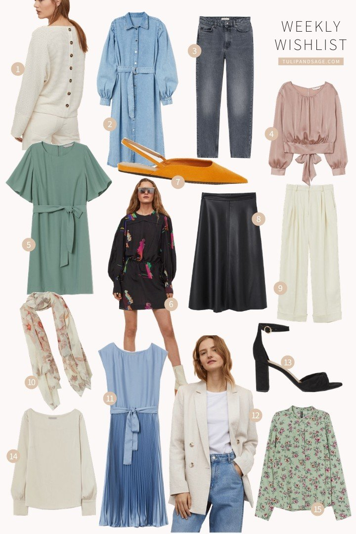 Welcome to the Weekly Wishlist, where I share the items I've been swooning over lately!  This week features some of my favourite new arrivals to H&M! #favouritethingslist #favouritethings #weeklyroundup #tulipandsage