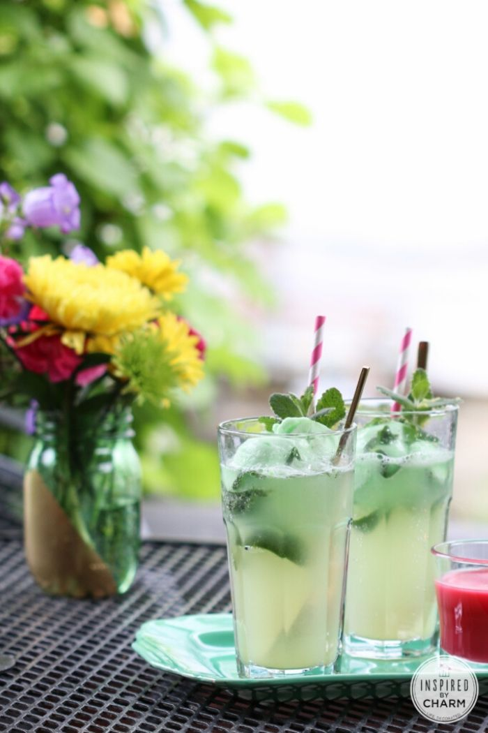 Source: inspiredbycharm.com // Are you looking for some green cocktails for this St. Patrick's Day?  I've got you covered!  Here are 10+ of my current favourite finds! #stpatricksday #stpatricksdaycocktails #greencocktails #tulipandsage