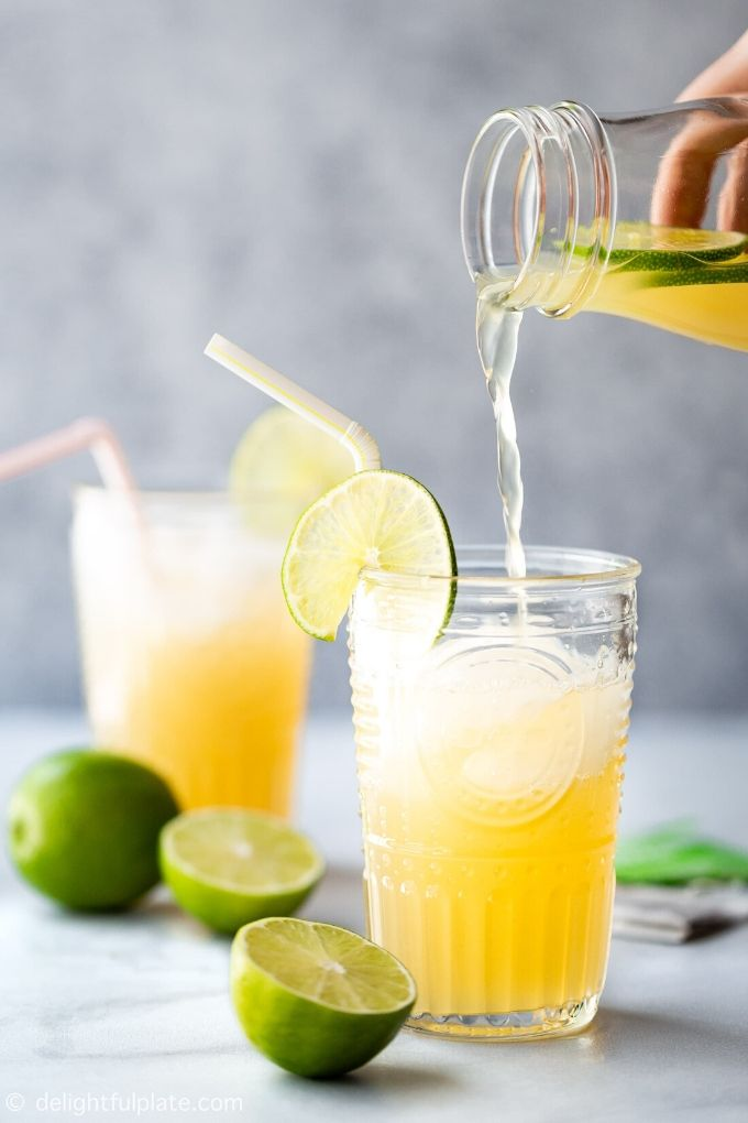 Vietnamese Lime Iced Tea - delightfulplate.com // There's nothing like enjoying a fresh cold glass of iced tea on a hot summer's day!  Here are 10 Healthy Iced Tea Recipes you must try this summer!  #tulipandsage #healthyicedtearecipes #healthyicetea #icedtearecipes