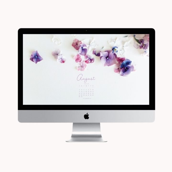 Hello August! Are you looking to refresh your screens this month? Grab our August Desktop Wallpaper! Did I mention it's a freebie?! #digitalwallpaper #desktopwallpaper #augustwallpaper #freedownload #freebies