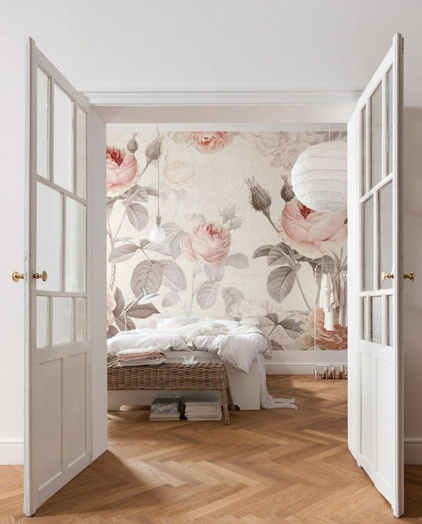 source: etsy.com/ We're currently coveting floral wallpaper!  Are you?  These pretty prints can really transform a room.  Here are some of our favourite spaces! #floralwallpaper #flowerwallpaper #wallpaperdecor #wallpaperdecorideas