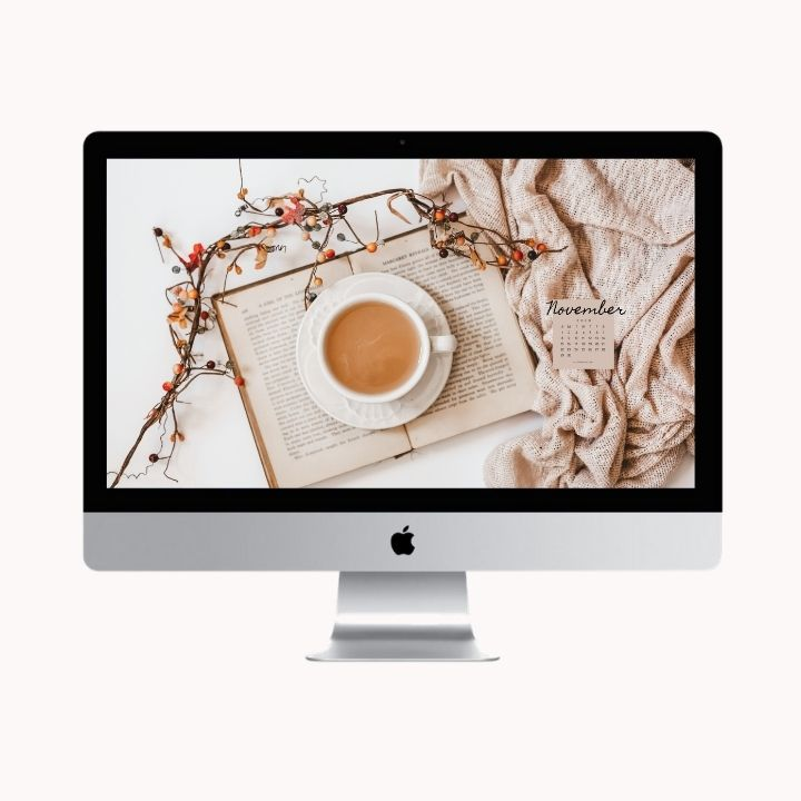 Hello November! Are you looking to refresh your screens this month? Grab our November Desktop Wallpaper! Did I mention it's a freebie?! #digitalwallpaper #desktopwallpaper #novemberwallpaper #freedownload #freebies