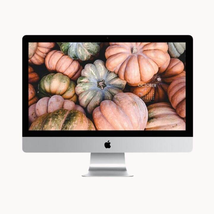 Hello October! Are you looking to refresh your screens this month? Grab our October Desktop Wallpaper! Did I mention it's a freebie?! #digitalwallpaper #desktopwallpaper #octoberwallpaper #freedownload #freebies