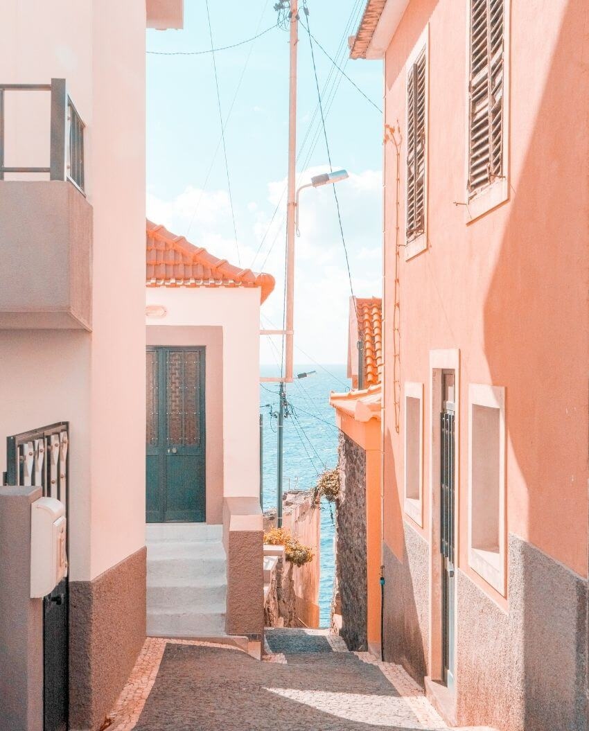 On this week's Monday Muse, find a beautiful island that's on our bucket list of places to visit as soon as we're safely able to travel again! #madeiraisland #madeiraportugal #wanderlust #travelaesthetic