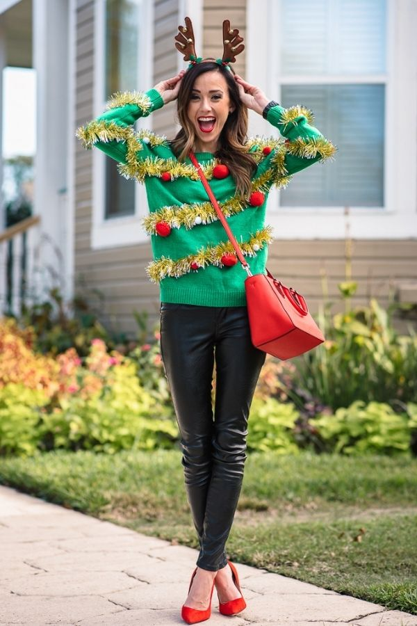 source: arrowandbliss.com/ Christmas and ugly sweaters are a pair made in holiday heaven, which is why we're featuring the ugly Christmas sweater on this week's Monday Muse! #uglychristmassweaters #uglychristmassweaterideas #uglychristmassweaterideasforwomen #uglysweaterideas