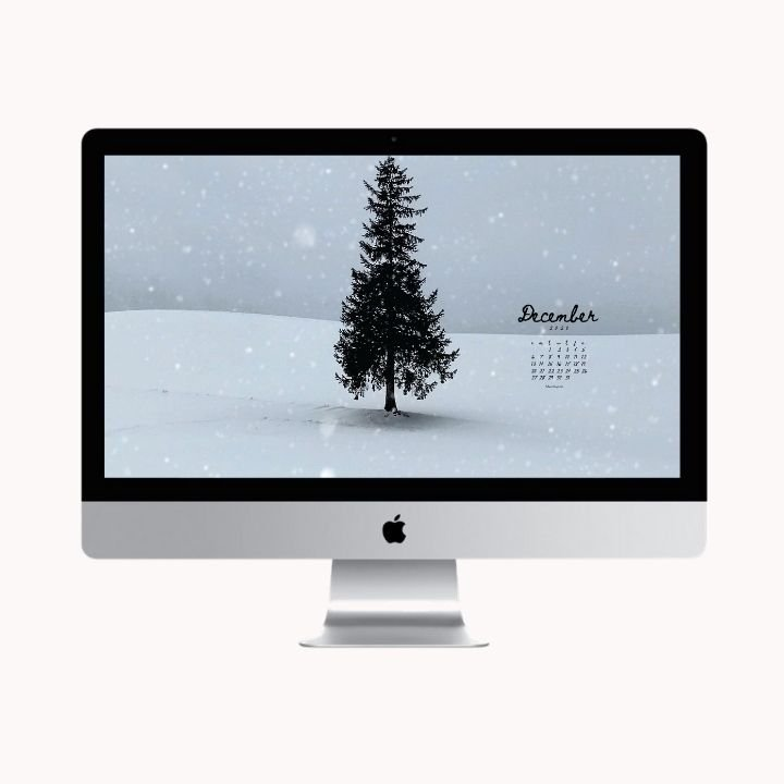 Hello December! Are you looking to refresh your screens this month? Grab our December Desktop Wallpaper! Did I mention it's a freebie?! #digitalwallpaper #desktopwallpaper #decemberwallpaper #freedownload #freebies