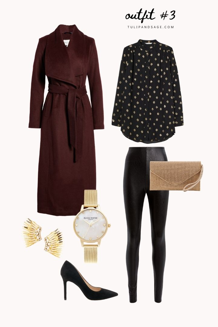 Ready for some outfit inspiration?  Today, we're featuring Michelle Obama's iconic plum outfit!  Plus, find other ways to style a long burgundy coat! #outfitideas #outfitinspirations #getthelookoutfits #getthelookoutfitsinspiration