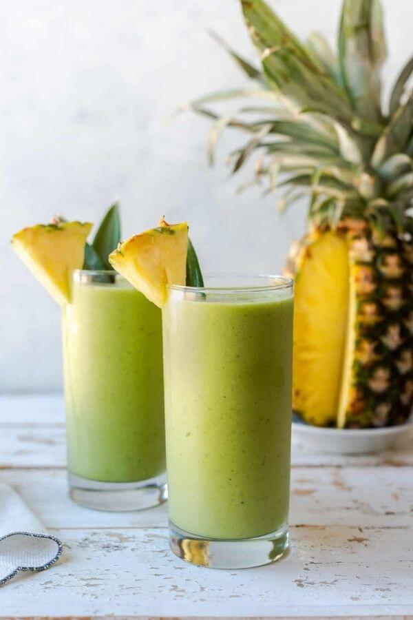 source: kitchenconfidante.com/ Looking for some new healthy green smoothie recipes to try this year?  Here are 9 that are packed full of nutrients and good-for-you ingredients! #greensmoothierecipes #greensmoothies #greensmoothieshealthy #healthygreensmoothies