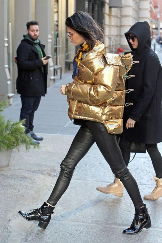 source: footwearnews.com/ Dressing for warmth doesn't feel the most stylish. Here are puffer coat outfit ideas that combine warmth and style to inspire your wardrobe this winter! #winteroutfitscold #winteroutfitswomen #puffercoatoutfits #winterpuffercoatoutfits