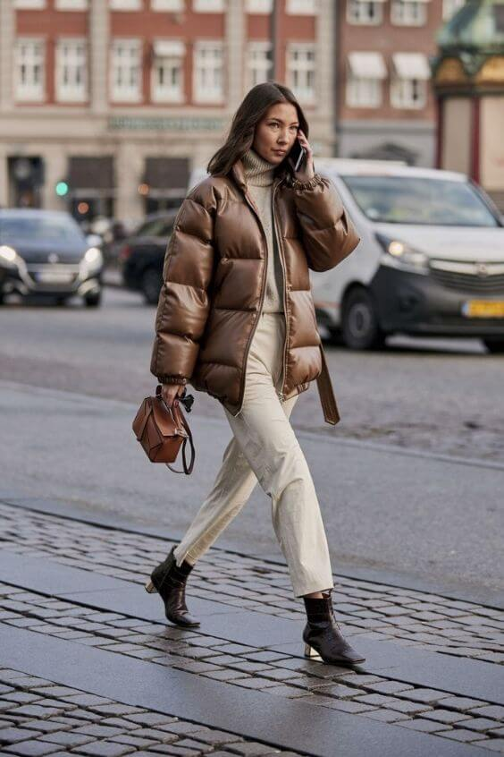 source: marieclaire.com/ Dressing for warmth doesn't feel the most stylish. Here are puffer coat outfit ideas that combine warmth and style to inspire your wardrobe this winter! #winteroutfitscold #winteroutfitswomen #puffercoatoutfits #winterpuffercoatoutfits