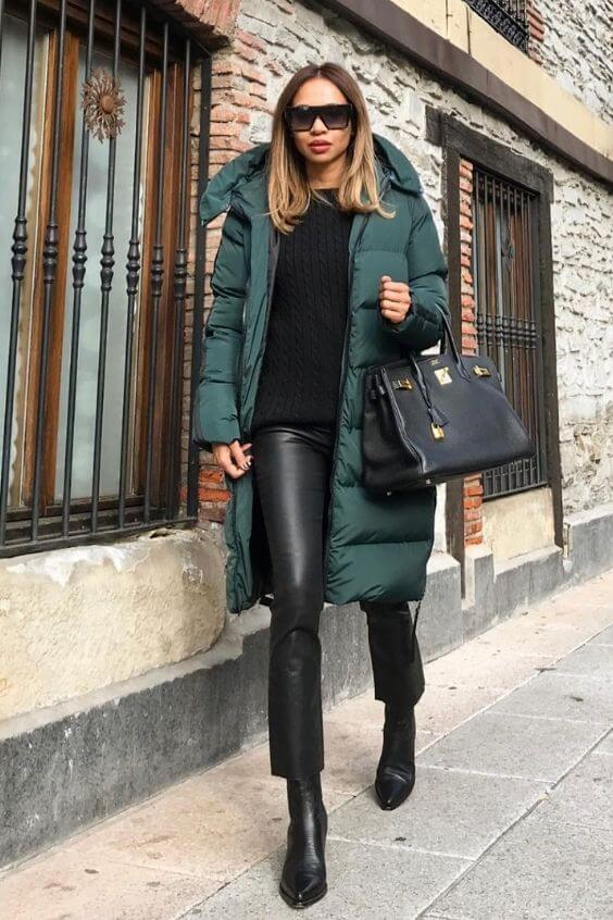 source: olaizolav/ Dressing for warmth doesn't feel the most stylish. Here are puffer coat outfit ideas that combine warmth and style to inspire your wardrobe this winter! #winteroutfitscold #winteroutfitswomen #puffercoatoutfits #winterpuffercoatoutfits