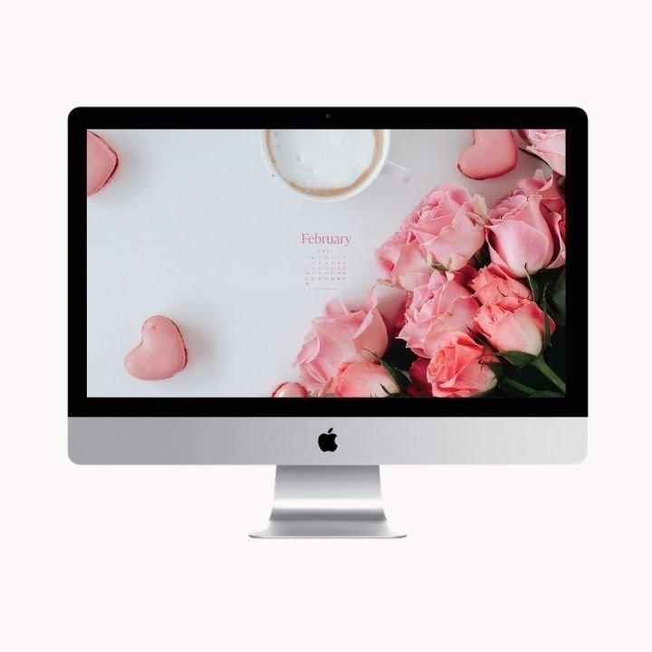 Hello February! Are you looking to refresh your screens this month? Grab our February Desktop Wallpaper! Did I mention it's a freebie?! #digitalwallpaper #desktopwallpaper #februarywallpaper #freedownload #freebies